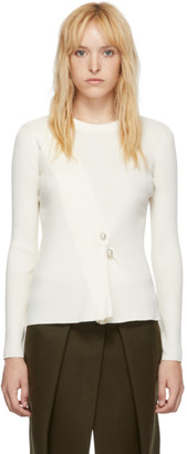 3.1 Phillip Lim White Pearl Pin Sweater