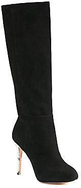 Alexandre Birman Suede & Python Heel Boots