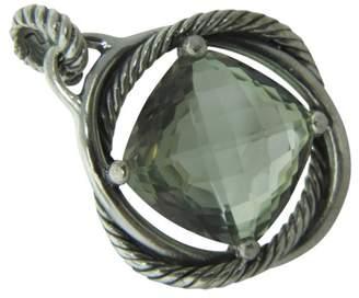 David Yurman 925 Sterling Silver & Prasiolite Infinity Enhancer Pendant