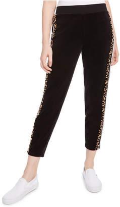 Juicy Couture Side-Stripe Velour Sweatpants