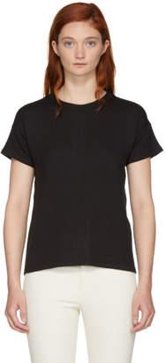 Rag & Bone Black Kat Split T-Shirt