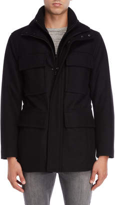 Andrew Marc Wool Bevy Bibbed Coat