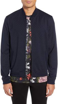 Ted Baker Ruubes Slim Fit Bird's Eye Knit Bomber Jacket