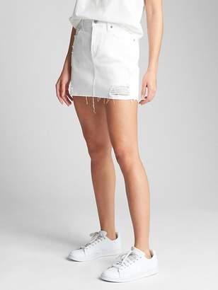 Gap Denim Mini Skirt in Distressed