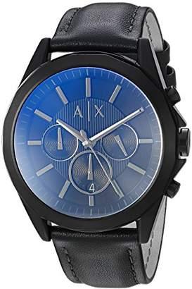 Armani Exchange Men's Black Leather Watch AX2613