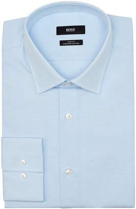 HUGO BOSS Light Pastel Blue Pattern Slim Shirt