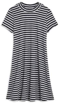 Aqua Girls' Striped Swing Dress, Big Kid - 100% Exclusive