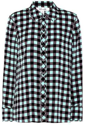 Diane von Furstenberg Plaid silk shirt