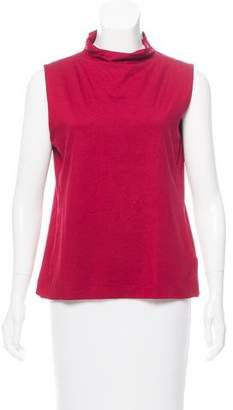 Armani Collezioni Sleeveless Mock Neck Top