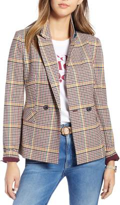1901 Double Breasted Plaid Blazer