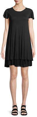 Kensie Tiered-Hem T-Shirt Dress