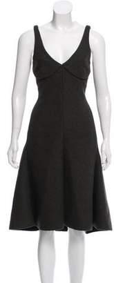 Celine Wool Midi Dress
