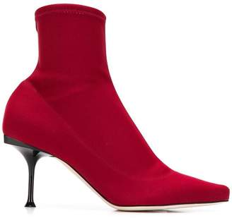 Sergio Rossi sock ankle boots