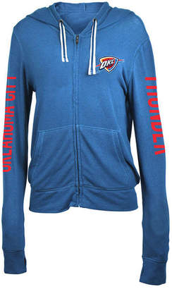 5th & Ocean Women's Oklahoma City Thunder Sweater Knit Full-Zip Hoodie