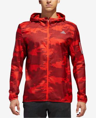 adidas Men's Camo-Print Water-Repellent Running Jacket
