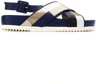 M·A·C Mara Mac panelled flat sandals