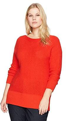Lucky Brand Women's Shoulder Plus-Size Sweater