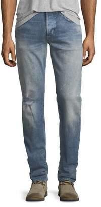 Hudson Men's Blake Slim-Straight Distressed Jeans, Blue