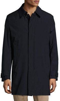 AllegriSolid Spread Collar Raincoat