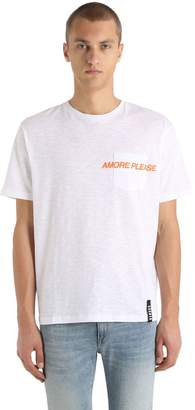 Versus Amore Please Embroidered Jersey T-Shirt