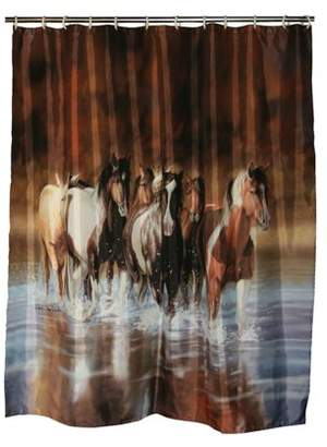Rivers Edge Products Shower Curtain V Schultz Horse