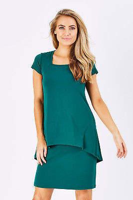 NEW bird keepers Womens Short Dresses The Short Sleeve Rita Dress Size 6 Pine