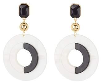 Ettika Black & White Statement Resin Earrings