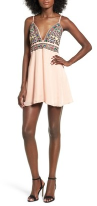Women's Majorelle Anchor Embroidered Minidress $178 thestylecure.com