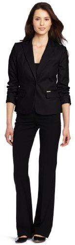 Calvin Klein Women's One-Button Colored Jacket