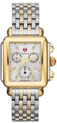 Michele Deco 18 Two-Tone Diamond Detail Watch