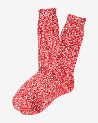 Express Chunky Marled Boot Socks
