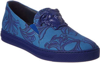 Versace Palazzo Cocco Baroque Slip-On Leather Sneaker