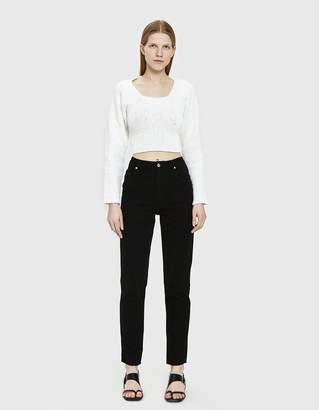 Eckhaus Latta El Straight Leg Jean in Black