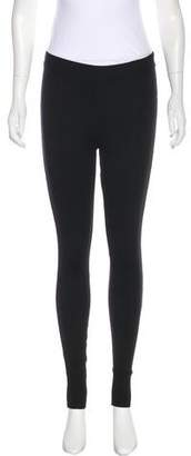 Dolce & Gabbana Mid-Rise Knit-Trimmed Leggings