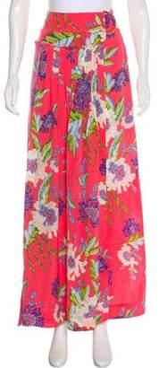 Diane von Furstenberg Floral Silk Maxi Skirt w/ Tags