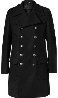 Dolce & Gabbana Slim-Fit Double-Breasted Wool-Blend Coat - Men - Black