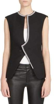 Haider Ackermann Embroidery Sleeveless Wool Jacket