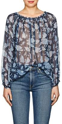 Raquel Allegra Women's Floral Silk Blouse