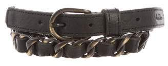 Zadig & Voltaire Leather Chain-Link Belt