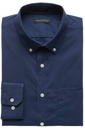 Banana Republic NEW Slim-Fit Tech-Stretch Cotton Solid Shirt