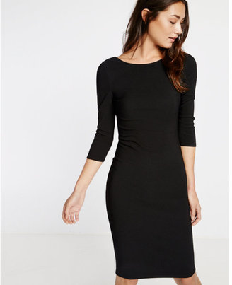 Express Zip Back Ribbed Sheath Dress $69.90 thestylecure.com