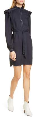 Joie Gadella Topstitch Detail Long Sleeve Shirtdress