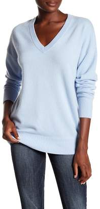 Frame Oversized V-Neck Sweater