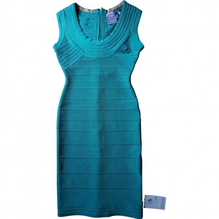 Herve Leger Green Dress