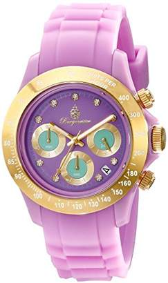 Burgmeister BM514-990A Florida, Ladies watch, Analogue display, Chronograph with Seiko Movement - Water resistant, Sporty and trendy silicone strap, Fashionable women's watch