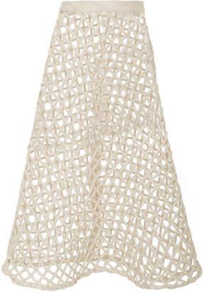 Belle Fisherman Basket Cotton Skirt