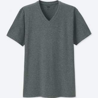 Uniqlo MEN Supima Cotton V Neck Short Sleeve T