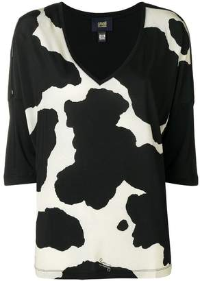 Class Roberto Cavalli cow print Isa blouse