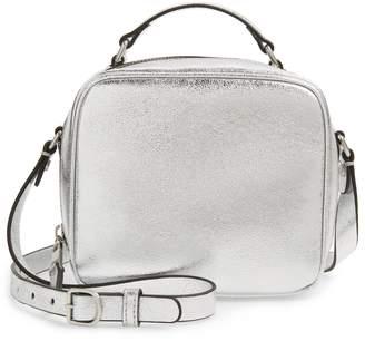 Treasure & Bond Ryan Metallic Leather Top Handle Crossbody Bag