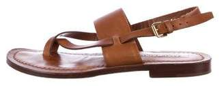 Ralph Lauren Leather Ankle Strap Sandals